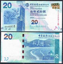 HONG KONG - BANK OF CHINA 20 DOLARES 2010 Pick -  SC  UNC