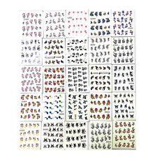 Hot 50 Sheets Mixed Designs Water Transfer Nail Art Sticker Watermark Decals DIY