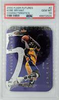 Rare: 2000 Fleer Futures Characteristics Kobe Bryant #2, Graded PSA 10, Pop 6 !