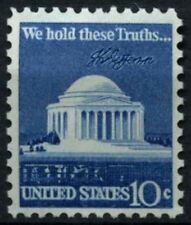 EE. UU. 1973 SG#1516, 10 C #D55481 Jefferson Memorial Definitivos estampillada sin montar o nunca montada