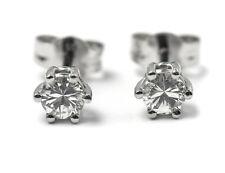Solitär Diamant Ohrstecker Ohrringe 585 14K Weißgold, 2 Diamanten  zus. 0,44 ct