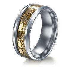 Men Women The Punisher Skull Stainless Steel Titanium Wedding Band Ring Size6-13