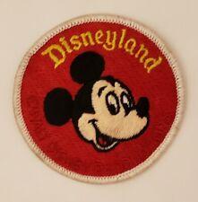 "Vintage Walt Disney Disneyland Mickey Mouse Sew On Patch 3"""