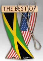 Rear view mirror car flags Jamaica and USA Jamaican unity flagz for inside car