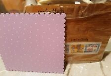 "Embellish Your Story Carol Roeda 16"" x 16"" Purple w/ White Polka Dots Memo Board"