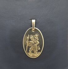 Miran 081103 9k Gold St Christopher Medallion Pendant 20mm x 14mm 1.9g RRP $260