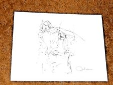 "John Lennon Vintage Drawing From Bag One Collection Titled ""Exchange Of Rings"