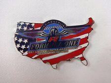 2002 Formula-1 Indianapolis United States Grand Prix Flag US Map Event Lapel Pin