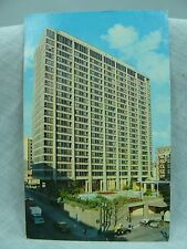 Portland Oregon Hilton Premier Hotel Chrome 6 cent stamp Used Taxi Blue Sky