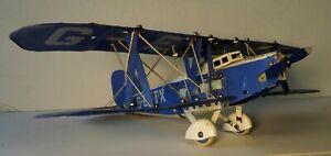 VINTAGE 1930's MECCANO AEROPLANE BLUE & WHITE BI-WING AIRPLANE