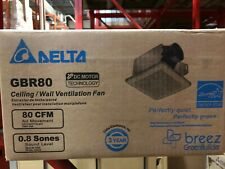 Delta Breez, Gbr80, Ceiling/Wall Ventilation Fan, Hvac, 8 units available