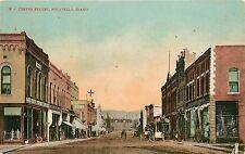 Idaho, ID, Pocatello, Center Street 1910 Postcard