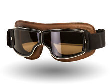 IV2 Classic Brown Motorcycle Goggles (SMOKE LENS) | AntiScratch, 100%UV Shield