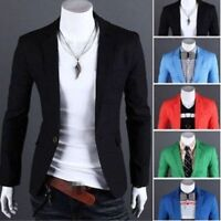New Men's Slim Fit Stylish Formal Casual One Button Suit Blazers Coat Jacket BJ