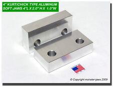 "4 x 2 x 1"" Standard Aluminum Machinable Soft Jaws for 4"" Vises USA (4MJV421A)"