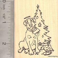 Christmas Gingerbread Dog Angel Rubber Stamp J15512