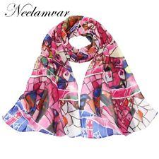 Écharpes et châles à motif Géométrique en mousseline pour femme
