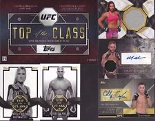 Top of the Class TOPPS UFC 2016 set of 5 cards & box Chad Mendes Auto Rare! Holm