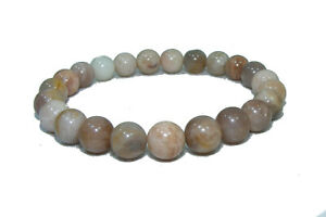 Bracelet de perles Pierre de soleil (héliolite) naturelle 8 mm 18cm / sur mesure