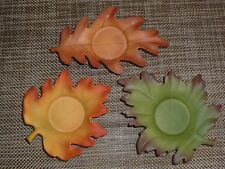 PartyLite Whispering Leaves Tealight Trio ~ Excellent Pre-Owned Condition