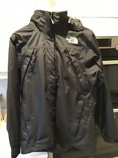 Ladies BNWOT North Face Black Hooded Hyvent jacket Size M