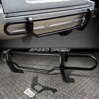 FOR 98-05 MERCEDES ML W163 BLACK COATED DOUBLE-BAR REAR BUMPER PROTECTOR GUARD