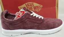 New Vans Iso 1.5 Suede Tweed Dots Women Size 7.5 Burgundy Red White Skate Shoe