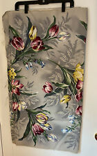 Vtg Floral Barkcloth 5 Yards 1 Piece