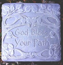 Religious stepping stone mold plaster concrete casting mould