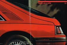 1985 Mercury CAPRI Brochure / Catalog: GS, RS