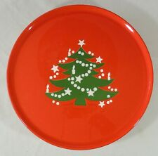 Waechtersbach Germany Red Christmas Tree Pedestal Cake Plate New