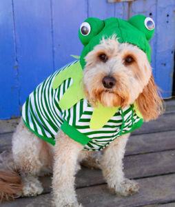 Frog dog costume jacket shirt 20cm x SMALL TO 45cm XXLARGE DOGS, cotton - New