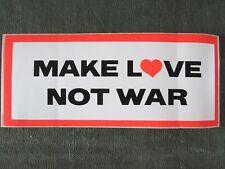 Vintage 1960's Bumper Sticker MAKE LOVE NOT WAR Original NOS Hippie VW Bug Bus