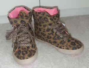 BNWT GIRLS NEXT ANIMAL HIGH TOPS UK 10 NEW BOOTS SHOES TRAINERS PUMPS BASKETBALL