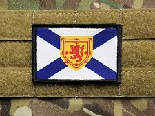 NOVA SCOTIA Flag Hook Backed Military Morale Patch Canada