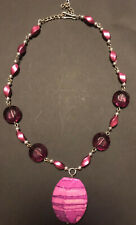 Necklace.Great Colors Stunning Pink Beaded