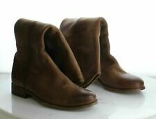 L22 MSRP $348 Women's Size 6B Frye Melissa Button Brown Leather Zip Boots