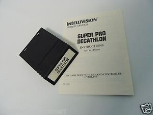 Super Pro Decathlon for the Intellivision with Manual Video Game System INTV