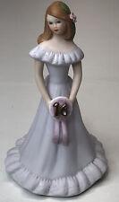 Vintage Enesco Growing Up Birthday Girls Figurine Brunette Age Sweet 16 1982