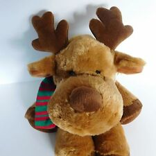 Balsam Plush Moose Russ Reindeer Stuffed Animal 33635 Red & Green Scarf Soft 15""