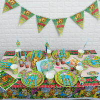 Jungle Party Animal Lion Birthday Party Pack Jungle Table Ware Decoration.