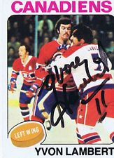 Yvon Lambert 1975 Topps Autograph #17 Canadiens