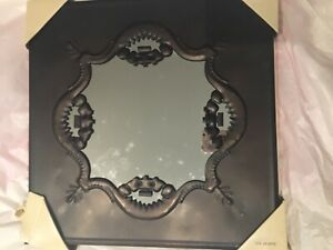 2 BRAND NEW BRONZE VINTAGE STYLE WALL MIRRORS