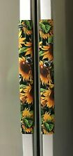 Refrigerator Oven Door Padded Handle Covers Sunflowers Set of Two
