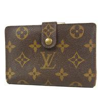 Auth LOUIS VUITTON T61218 Monogram French Purse Metal Clasp Wallet 15568bkac
