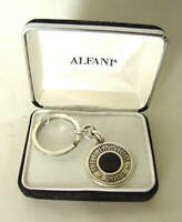 ALFANI Millennium 2000 Silvertoned Keychain Keyring Made in USA NEW NIB