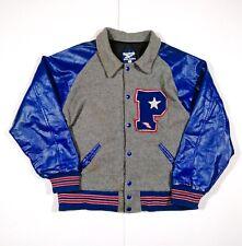 Reebok American Team Letterman Jacket Sportswear Vintage Retro Size M READ