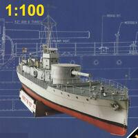 1:100 Scale Paper Model Kit British M15 Class Patrol Boat High Simulation