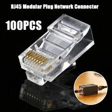 CAT6 Plug EZ RJ45 Network Cable Modular 8P8C Connector End Pass Through 100 Pcs