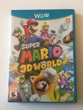 Super Mario 3D World (Nintendo Wii U, 2013) - Complete CIB VERY CLEAN*